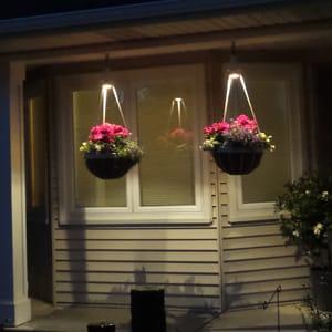 Lighted Hanging Baskets-Summer