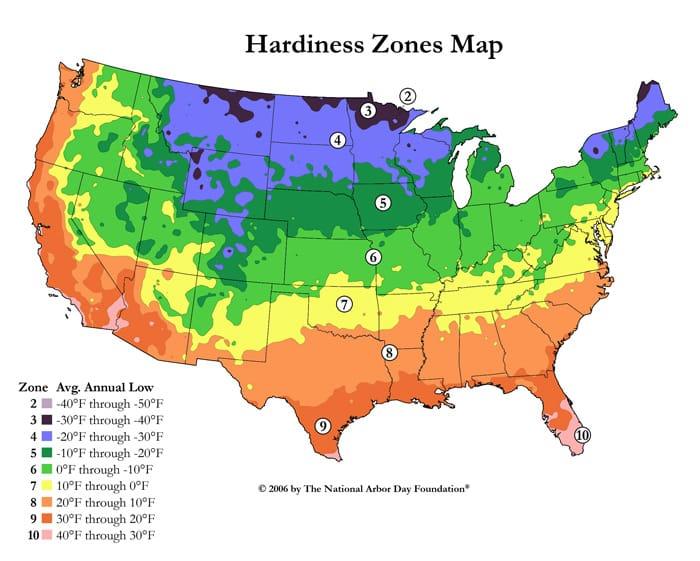 Hardiness Zone Map