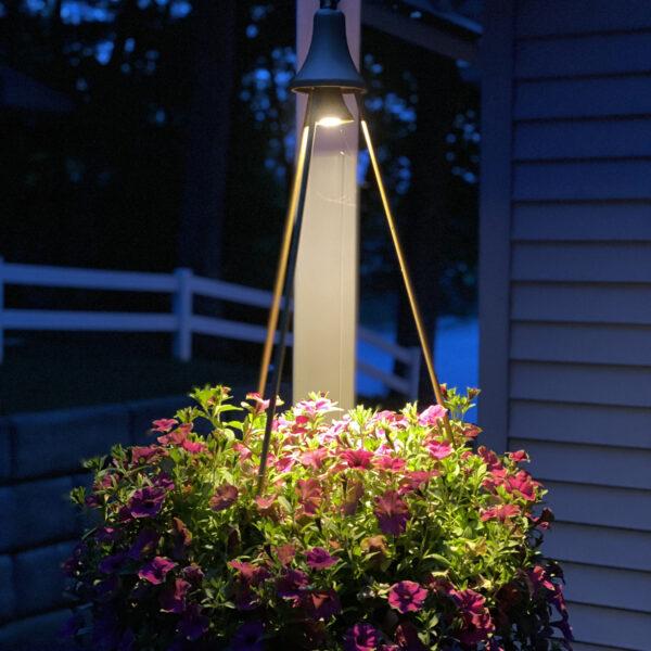 i3- LIghted Hanging Basket