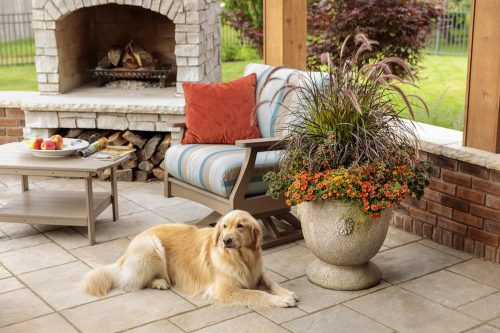 5 Outdoor fireplace with dog_PW