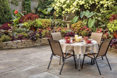 Warm palette-Shady Patio Garden 430